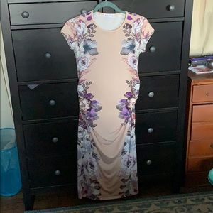 Floral Maternity Dress Midi Summer Sexy Size 8